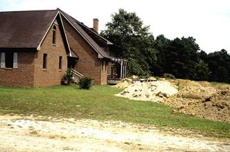 JLBG residence, hundreds of truckloads relocated to create berms - 1996