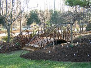 Cattail bridge installed - winter 2005